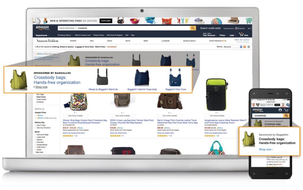 Amazon Headline Search Ads. Image source: Amazon.com
