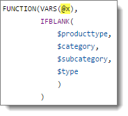Producttype custom function without variables