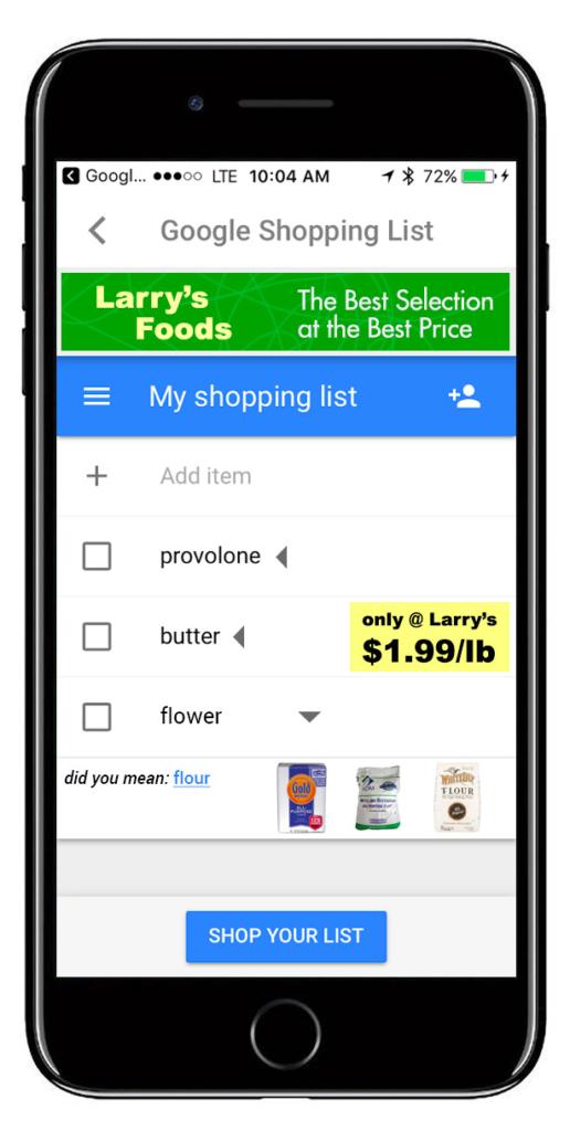 shopping list v2