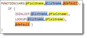 advanced custom rule with multiple variables COLORLOOKUP custom function